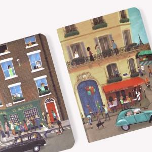 Libreta x 2 De Viaje De París a Londres