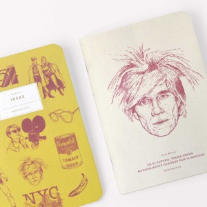 Libretas x 2 Makers Andy Warhol Superstar