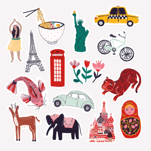 Pack de Stickers Wanderlust