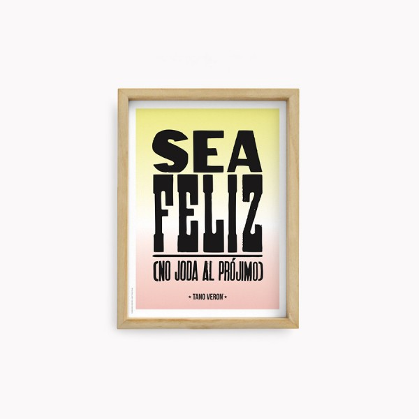 Lámina Tano Veron Sea Feliz 22x30cm