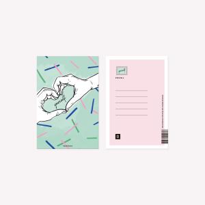 Postal 10x15 cm Happimess Love Yourself