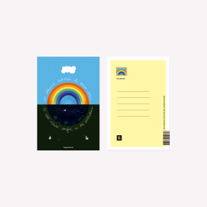 Postal Happimess Si Llueve 10 x 15 cm