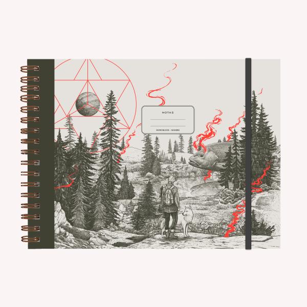 Cuaderno Apaisado Valiente A4