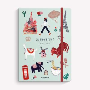 Cuaderno Cosido Mediano Wanderlust De Viaje Punteado