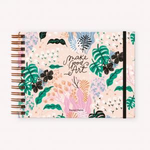Cuaderno de Dibujo A5 Apaisado Happimess Believe Rosa