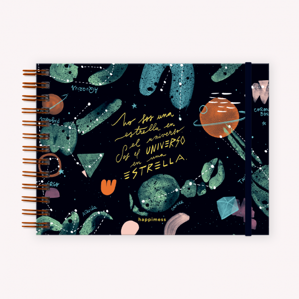 Cuaderno Apaisado Happimess Universo en una Estrella