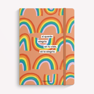 Sé la alegría - Rainbow - Ruled Sewn Notebook