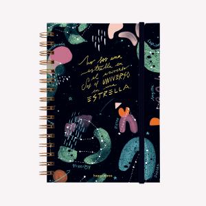 Cuaderno Anillado A5 Universo Happimess Punteado