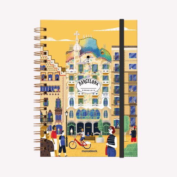 Cuaderno Anillado A5 Barcelona Viaje Liso