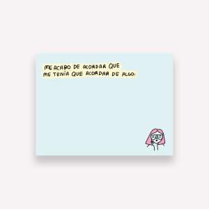 Notas Adhesivas Pepita Sandwich - Me Acordé 10 x 7,4 cm