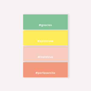 Notas Adhesivas set x4 Happimes Colorblock - Hashtag