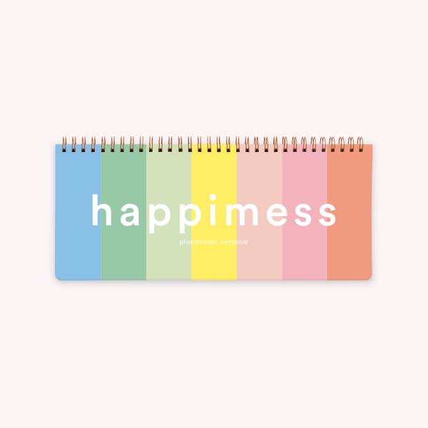 Planificador Semanal Anillado Happimess - Colorblock