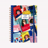 Agenda A5 2021 Semana a la vista - Club de Lectura Un libro y una flor