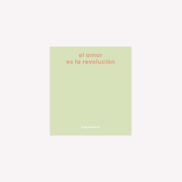 Notas Adhesivas Happimess El amor es la Revolución