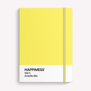 Cuaderno Cosido Mediano Happimess Amarillo Feliz - Punteado