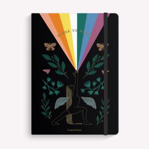Cuaderno Cosido Mediano Happimess Artista del Arcoiris Liso
