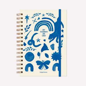Cuaderno Anillado A5 Rayado Happimess Mi Tiempo es Oro 2021