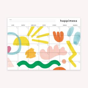 Planner Mensual 35x25 cm Happimess Artista del Arcoíris