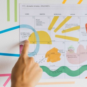 Planner Mensual Block Happimess - Artista del Arcoíris