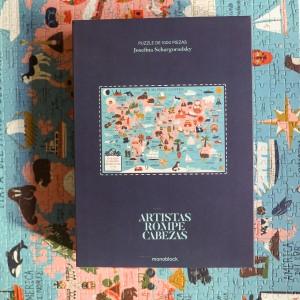 Puzzle 1000 Piezas Artistas Rompecabezas x Josefina Schargorodsky - Mapa del Mundo ilustrado