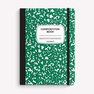 Cuaderno Cosido A5 Liso Monoblock Compost Verde