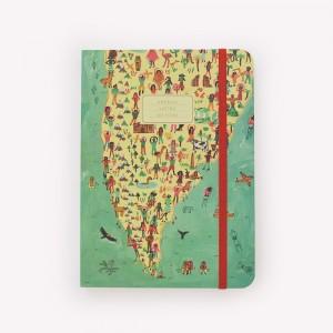 Cuaderno Cosido Mediano De Viaje America Latina Rayado