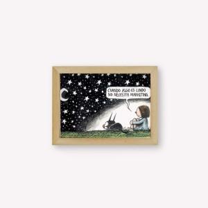 Lámina 14x34cm Macanudo Noche Estrellada