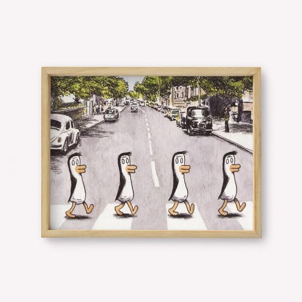 Wall Art Pingüinos Beatles