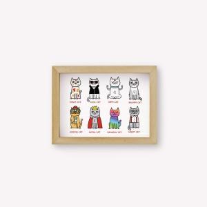 Wall Art Tipos de gato