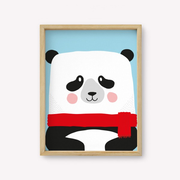 Wall Art Panda Color