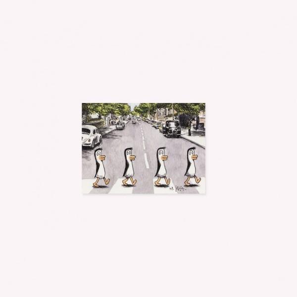 Pack Viñeta Pingüinos Beatles x 5