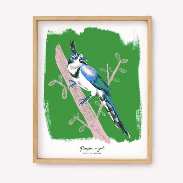Serigrafía Piapia Azul
