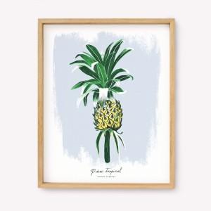 Serigrafía Piña Tropical