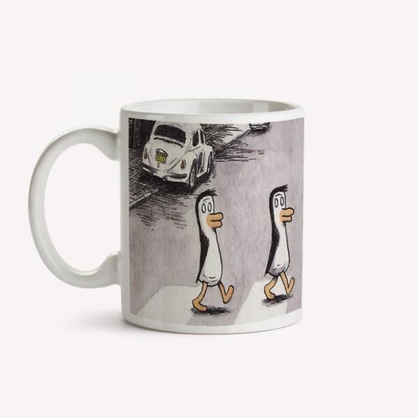 Taza Pinguinos Beatles