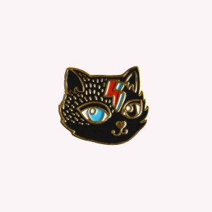 Gato Bowie Pin Vintage