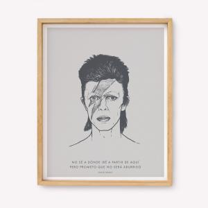 Serigrafía No será aburrido - Bowie