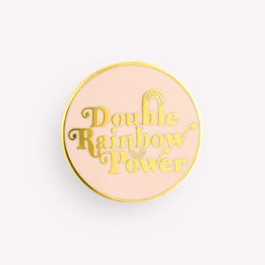 Pack de 3 Pins Vintage Hard Double Rainbow