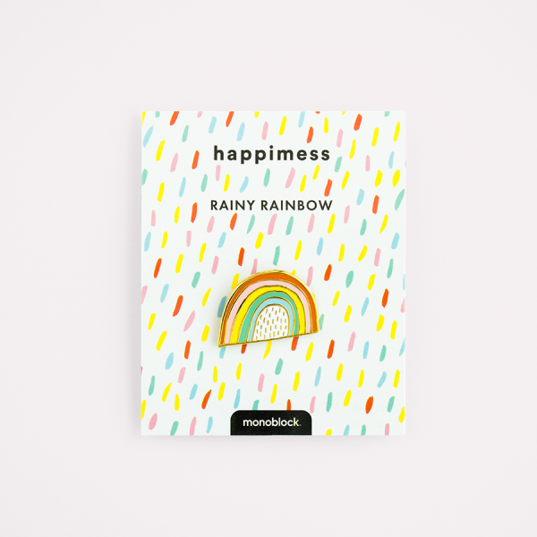 Rainy Rainbow Pin Vintage Hard