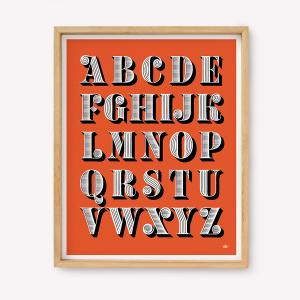 Pack de 3 Serigrafías 39x49 - ALFABETO MARTINA FLOR