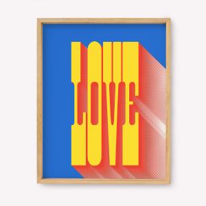 Pack de 3 Serigrafías 39x49 - LOVE MARTINA FLOR