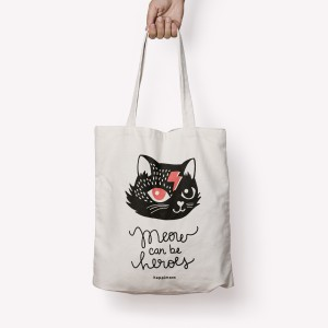 Totebag Gato Bowie