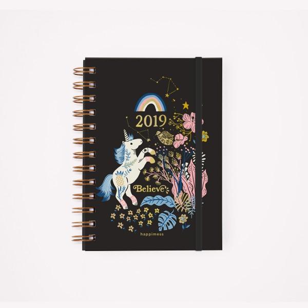 Agenda 2019 Pocket Semanal Happimess Believe Unicornio