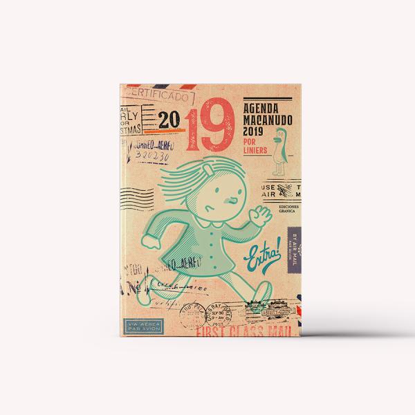 Agenda 2019 Semanal Mediana Macanudo por Liniers Enriqueta Macanudo Cosida