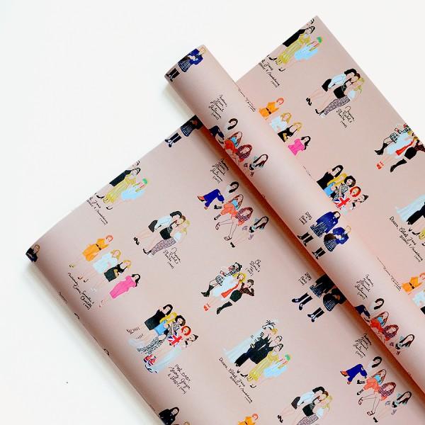 Papel Decorativo 50x70 Amigas