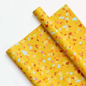Papel Decorativo 50x70 Terrazo Yellow
