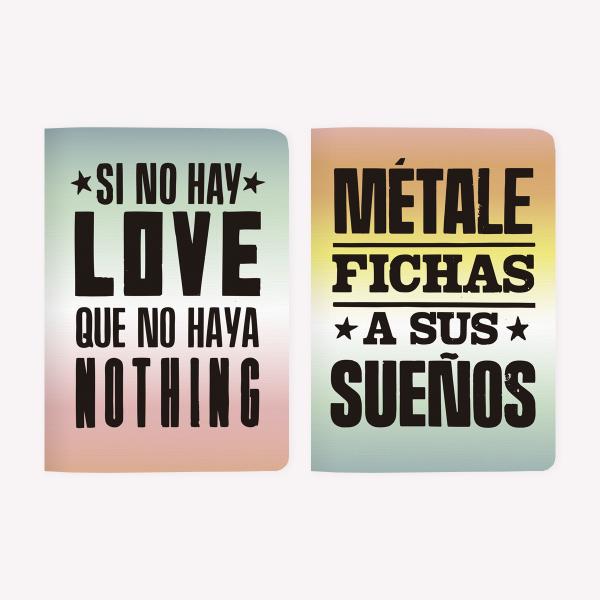 Libretas x 2 Tano Veron Si no hay love + Fichas