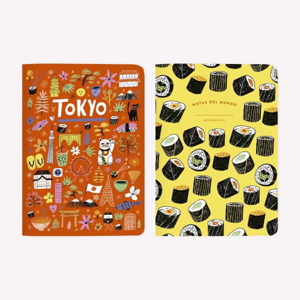 Libreta x 2 De Viaje Tokyo