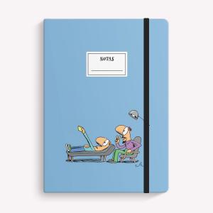 Cuaderno Cosido Mediano Selfie Rayado