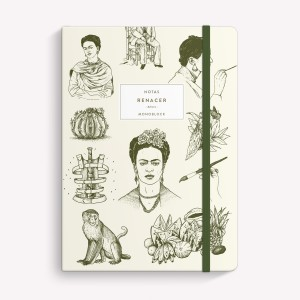 Cuaderno Cosido Mediano Frida Rayado