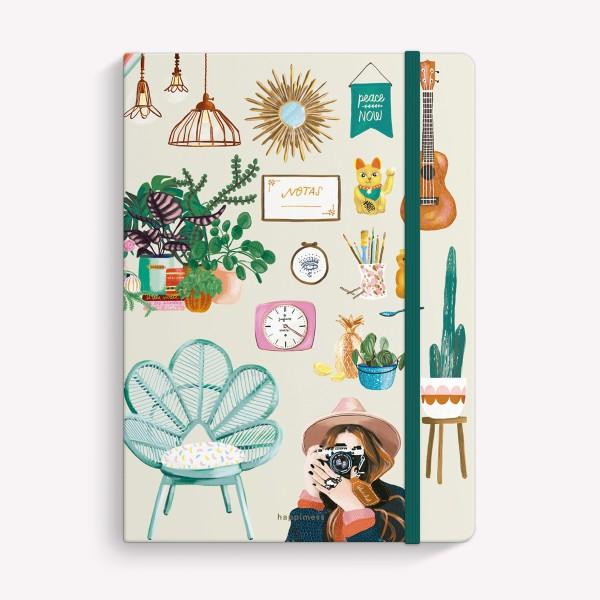 Cuaderno Cosido Mediano Mi Tiempo es Oro Rayado
